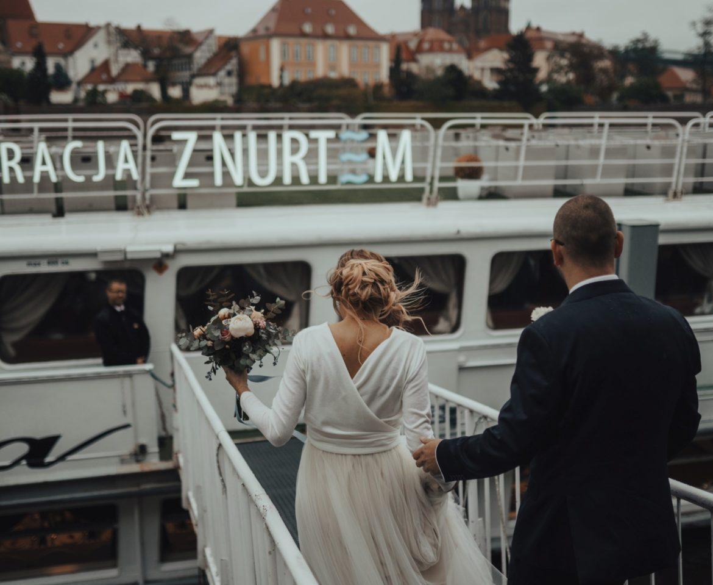 Ślub motocyklistów na Wrocławskim statku! – Linda i Mateusz