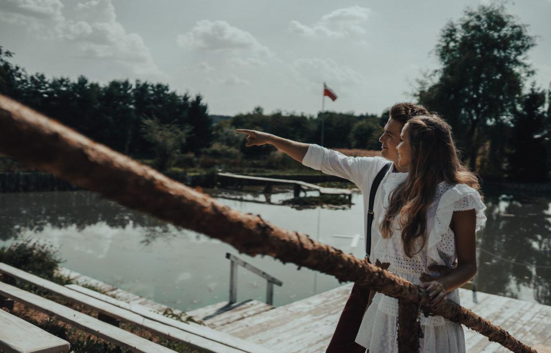 Dwójka zakochanych nad jeziorem w Palowicach – Magda i Sebastian
